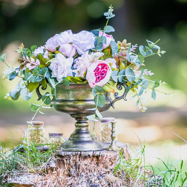 Urn Pedestal Flowers Centrepiece Bowl