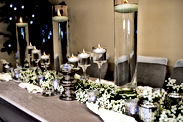 Candle holders for table decoration and wedding ceremony