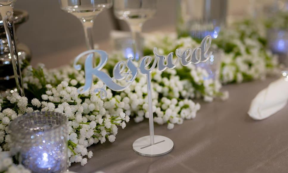 Wedding venue decoration in Yorkshire