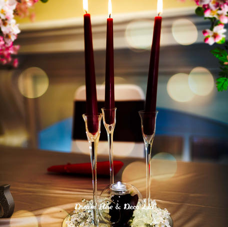 Clear Glass Candlestick Decoration