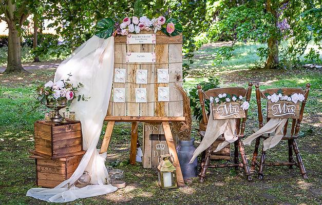 Handmade rustic wedding decor items