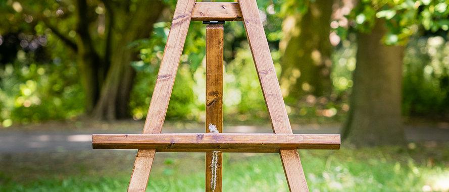 Wood Easel Wedding Sign