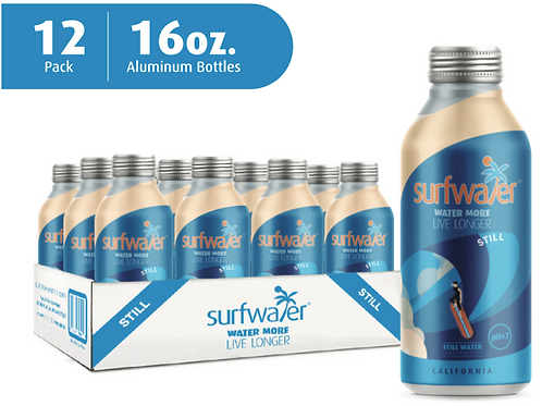 Surfwater STILL  (12 x 16oz Bottles)   GET  $5.-  off  on orders of  5+ cases