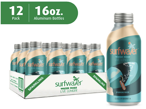 Surfwater SPARKLING (12 x 16oz Bottles)   GET $5.-  off  on orders of  5+ cases