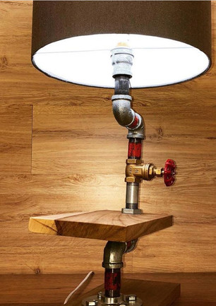 Customized Pipe Bedside Lamp