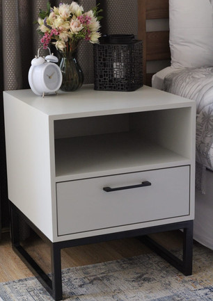 Multi Bed Side Table- Light Grey