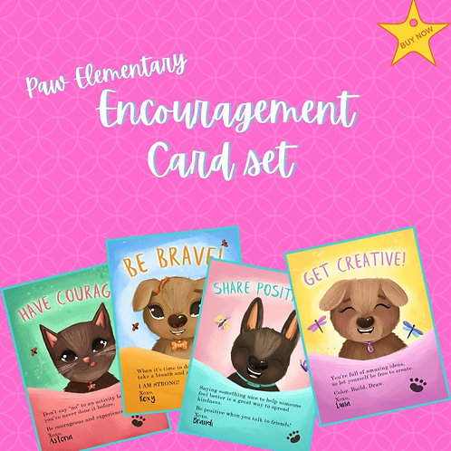 Paw Elementary Encouragement Cards