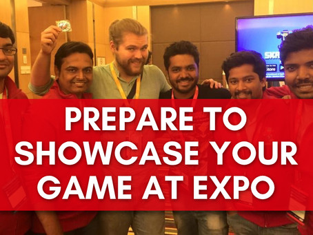 Preparations for game showcasing at Expos and conferences