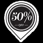 50%オフ