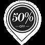 50% Off sticker