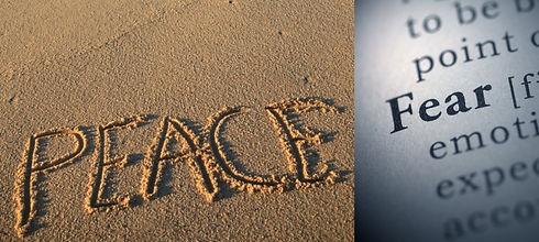 peace written on the beach sand