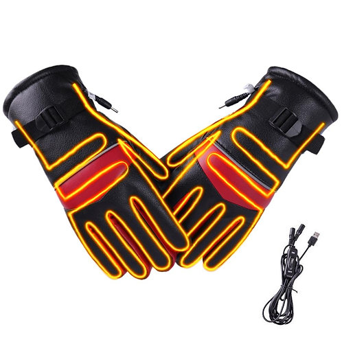 Electric Heated Gloves Windproof Waterproof Touch screen