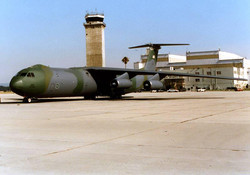NortonAFB-C-141B parked in front of Nort
