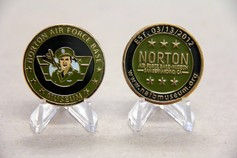 NAFBM Challenge Coin (Both sides shown).