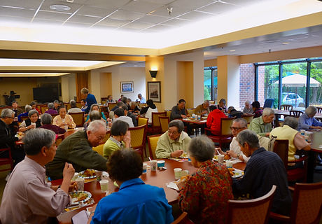 Serving Lunch at Hunters Woods Fellowship House