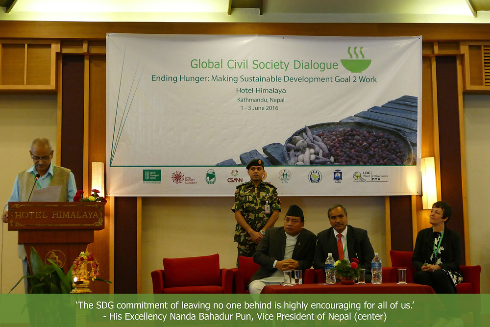 Global Civil Society Dialogue - Ending Hunger: Making Sustainable Development Goal 2 work