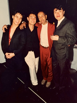 With B.D. Wong, Geroge C. Wolfe and Ong Keng Sen at opening night of A LANGUAGE OF THEIR OWN at the Public