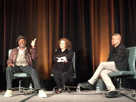 Moderating a conversation with Universes' Steve Sapp and Mildred Ruiz at the TCG closing plenary in Portland