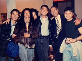 Opening night of A LANGUAGE OF THEIR OWN at the Public with B.D. Wong, Shelby Jiggetts, George C. Wolfe and Alec Mapa