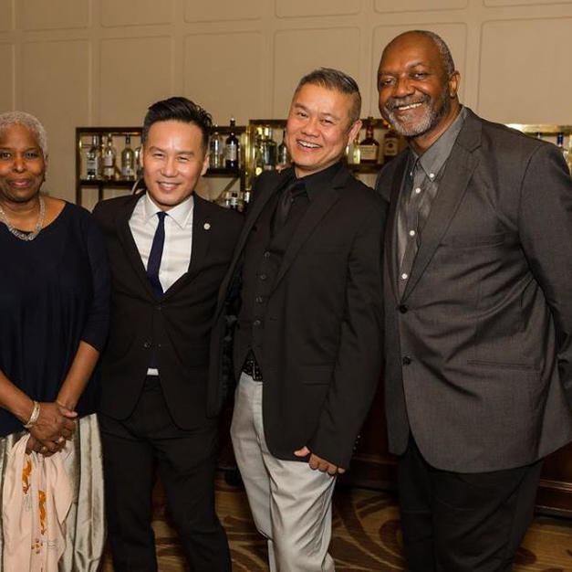 Victory Gardens gala with actors Denis O'Hare, Cheryl Lynn Bruce, B.D Wong and visual artist Kerry James Marshall