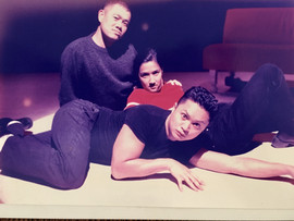 In tech with I REMEMBER MAPA at North west Asian American Theatre (with Alec Mapa and Rosa Joshi)