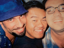 With fellow New Dramatist playwrights Nilo Cruz and Luis Alfaro