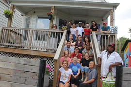 Our staff at one of our VIctory Gardens' community partners, I-Grow Chicago, for day of service