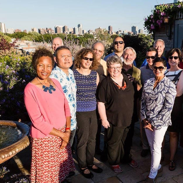 Some of our Victory Gardens board members at a season announcement event