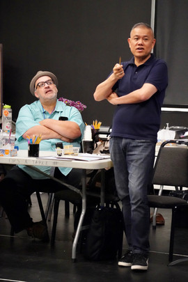 In rehearsals with Luis Alfaro and his play MOJADA at the Public