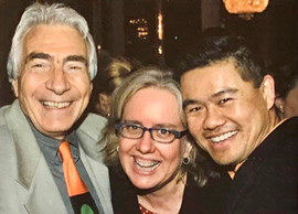 With Center Theatre Group artistic director Gordon Davidson and director Lisa Peterson at the opening of THE HOUSE OF BERNARDA ALBA at Mark Taper Forum