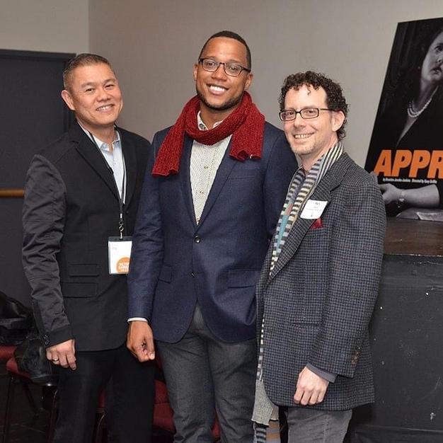 Opening night of APPROPRIATE with Branden Jacobs Jenkins, and Venturous Theatre Fund Program Director, Ben Pesner