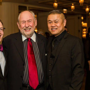 With Victory Gardens artistic director emeritus Denis Zacek and managing director Chris Mannelli