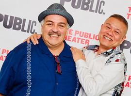 Opening night of MOJADA at the Public with Luis Alfaro