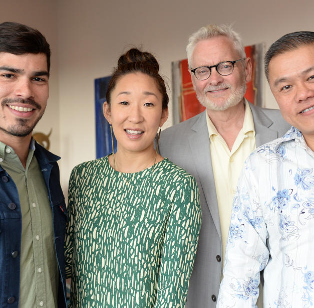 With Sandra Oh, Raul Castillo, and John Judd at a Victory Gardens donor event