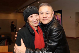 With actor / playwright Jeanne Sakata with whom I've collaborated on RED, A BEAUTIFUL COUNTRY, BIG HUNK OF BURNIN' LOVE, THE HOUSE OF BERNARDA ALBA, and QUESTION 27, QUESTION 28