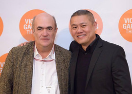 Opening night of THE TESTAMENT OF MARY at Victory Gardens with playwright / novelist Colm Toibin