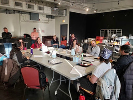 First day of rehearsals of Madhuri Shekar's DHABA ON DEVON AVENUE at Victory Gardens