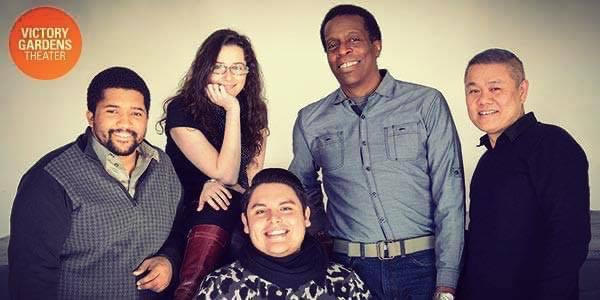 Victory Gardens artistic staff - Monty ole, Joanie Schultz, Isaac Gomez, and Robert Cornelius - in 2015