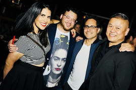 With Ignacia Delgado, and playwrights Christopher Pena and Rajiv Joseph