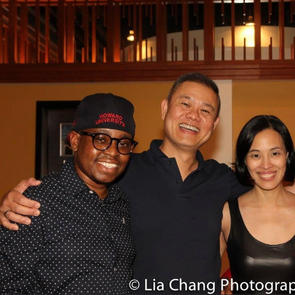 After a workshop with Andre de Shields, Samuel Roberson Jr., and Lia Chang at Victory Gar