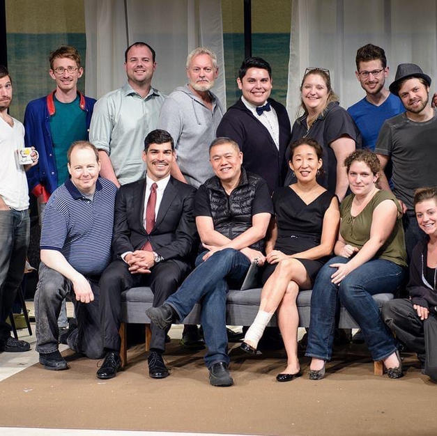 The cast and production team of DEATH AND THE MAIDEN at Victory Gardens