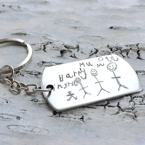 Personalised engraved key ring