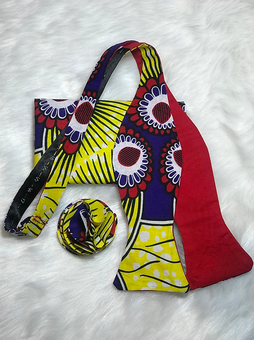 Reversible Kente Inspired Bow Tie Set