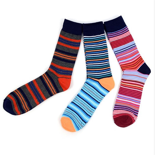 3pk Striped Socks