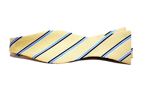 Yellow with Light Blue and Navy Stripes