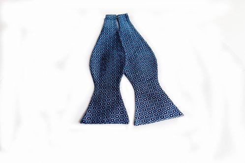 Blue Self-tie Bow Tie