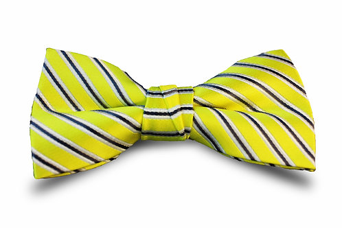 Yellow with Grey and White Stripes