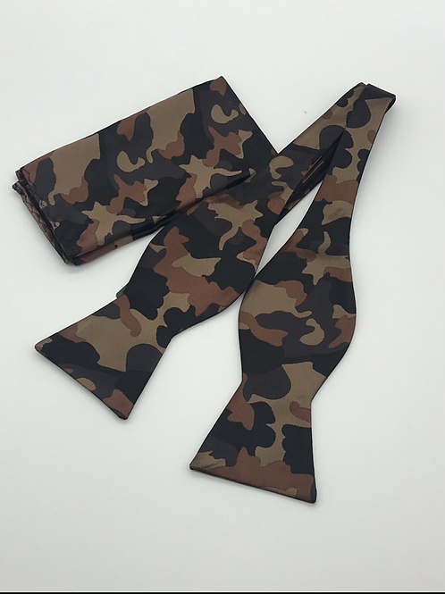 Camouflage Bow Tie Set