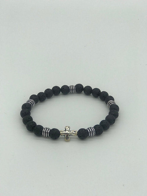 Black Lava Beaded Bracelet
