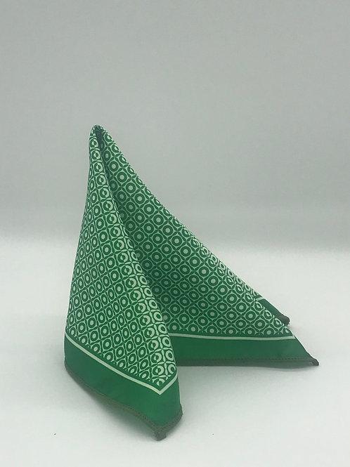 Green & White pocket Square
